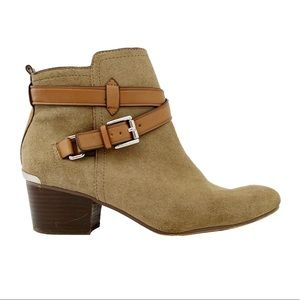 Coach Pauline Tan Nubuck Leather Ankle Boots